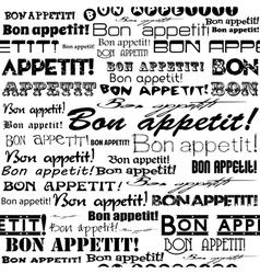 Seamless bon appetit pattern vector