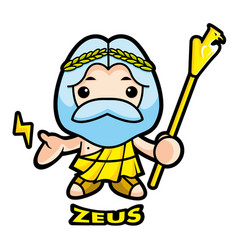 Sky and thunder god zeus character olympus god vector