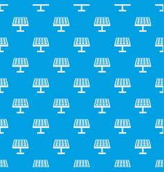 Solar energy panel pattern seamless blue vector