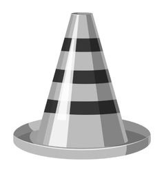 Traffic cone icon gray monochrome style vector