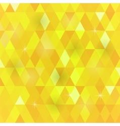 Yellow geometric retro mosaic pattern vector