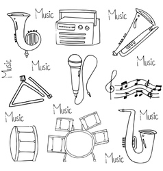 Doodle of music hand draw vector