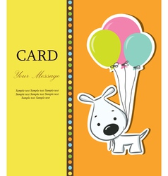 Dog card vector