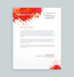 Ink splash letterhead design vector