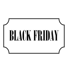 Black Friday icon outline style vector image