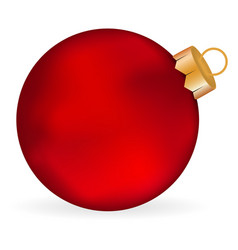 Christmas red ball on a white background vector
