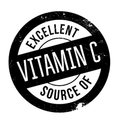 Excellent source of vitamin c stamp vector
