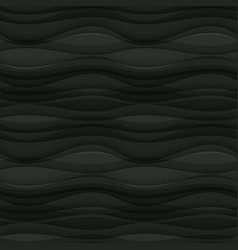 Black seamless wavy background texture vector