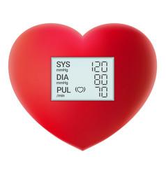 Arterial blood pressure checking concept digital vector