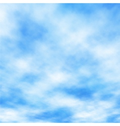 Cotton clouds vector image