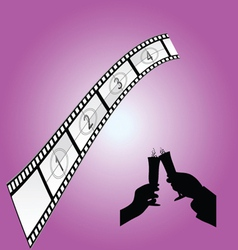 Cinematography sign art color vector