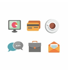Flat design business and office objects in vector