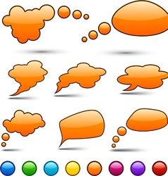 Color speech bubbles vector