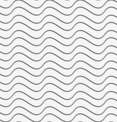 Perforated paper with horizontal thin waves vector
