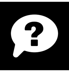 The question mark icon help speech bubble vector