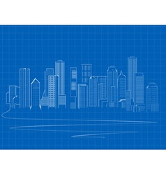 stylized skyscrapers vector image