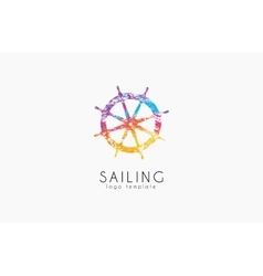 Helm logo sailing logo design color logo design vector