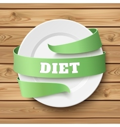 Diet conceptual background vector