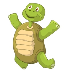Funny Turtle Jumping vector image