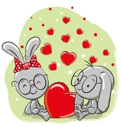 Lovers rabbits vector
