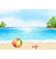 A beach vector image vector image