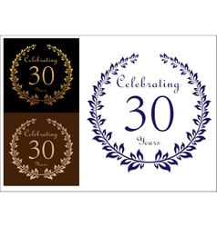 Anniversary celebration emblem vector