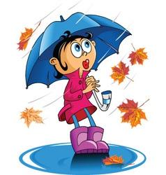 autumn rain vector image vector image