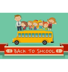 Back to school theme with teachers and kids vector image vector image