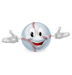 baseball ball man vector image