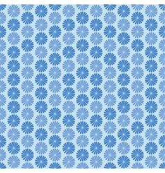 Blue flowers ornament seamless pattern vector image