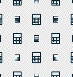 Calculator icon sign Seamless pattern with vector image