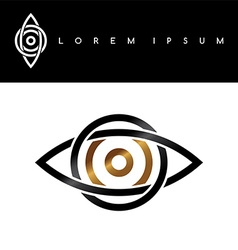 celtic eye symbol gold black monochromatic vector image