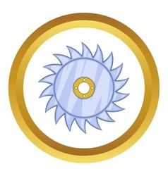 Circular saw blade icon vector image