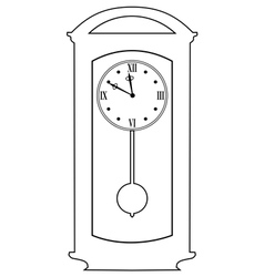 classic clock vector image vector image