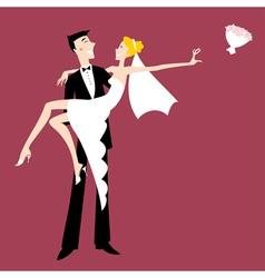 cool sexy bride vector image vector image