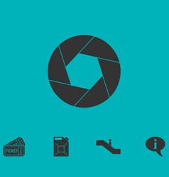 Diaphragm icon flat vector