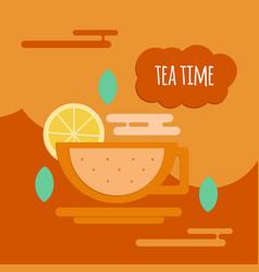 Five oclock tea flat style concept vector