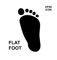 Flat foot icon vector