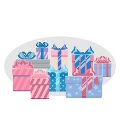 Gift boxes heap vector