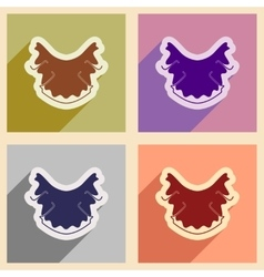 Icons of assembly dental caries in flat style vector