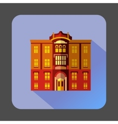 Majestic colorful building icon flat style vector