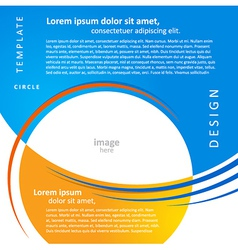 mock-up design template geometric abstract blue vector image vector image