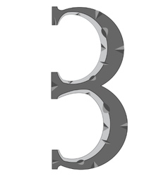 Numeral three vector image