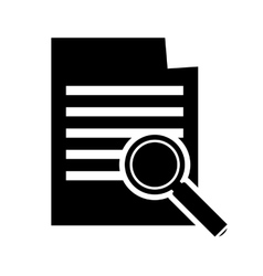 Paper document and magnifying glass icon vector