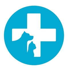 pet icon for veterinary help vector image