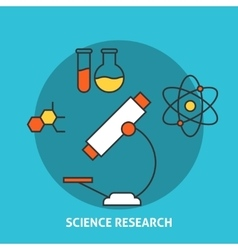 Science research concept vector image vector image