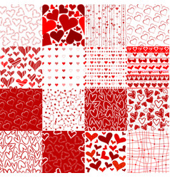 Set of patterns for valentines day vector