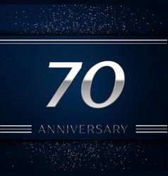Seventy years anniversary celebration logotype vector