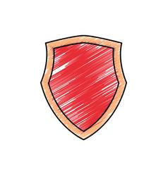 shield emblem symbol vector image vector image