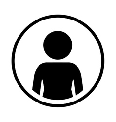 Silhouette sphere of half body icon figure human vector
